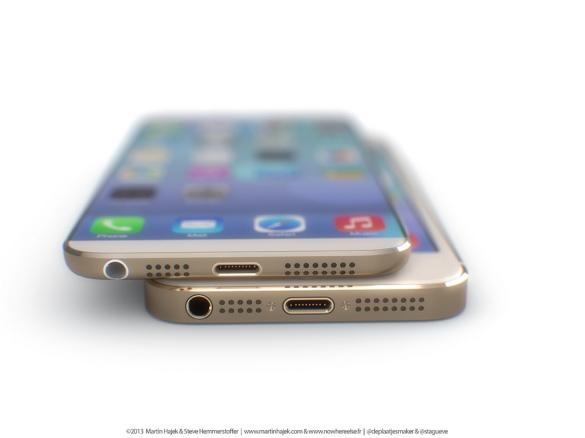 Baseados nas fotos, os designers sugerem que o novo iPhone terá uma grande diferença de espessura comparada ao modelo atual