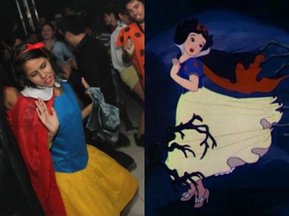 Fantasia Festa Rebobinar Manaus - Snow white branca de neve costume