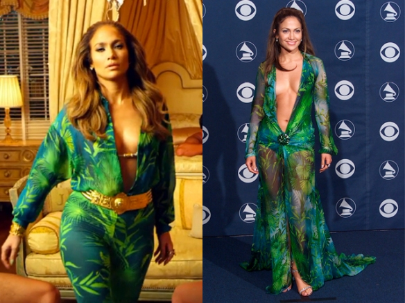jlo - versace - grammy - dress