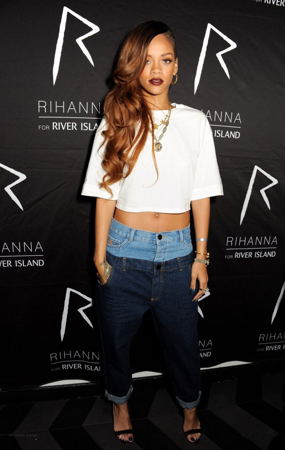 RIHANNA at the River Island Collection After Party