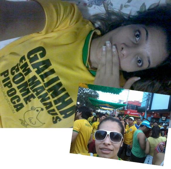 Nossa querida leitora Camila Lorena já levou a camiseta pra passear
